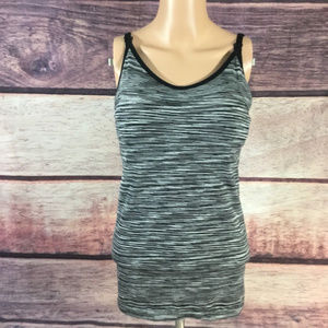 Under Control Tank Top Cami Womens S Black Gray